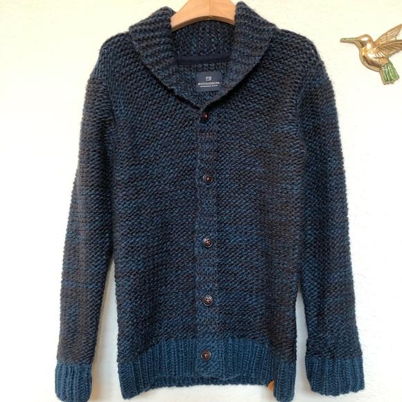 NWT~Boys Size:10~SCOTCH SHRUNK by Scotch /& Soda ~ Blue Stripe Cardigan Sweater
